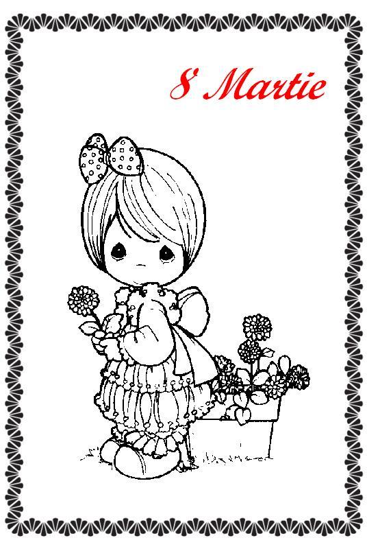 Felicitari si planse de colorat de 8 Martie - Ziua Mamei
